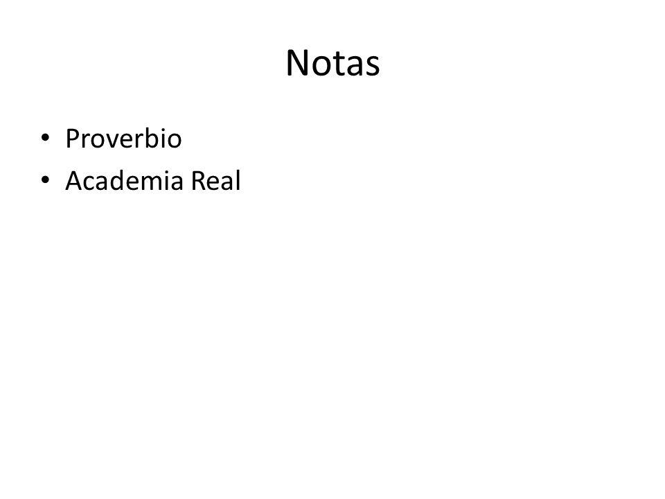 Notas Proverbio Academia Real