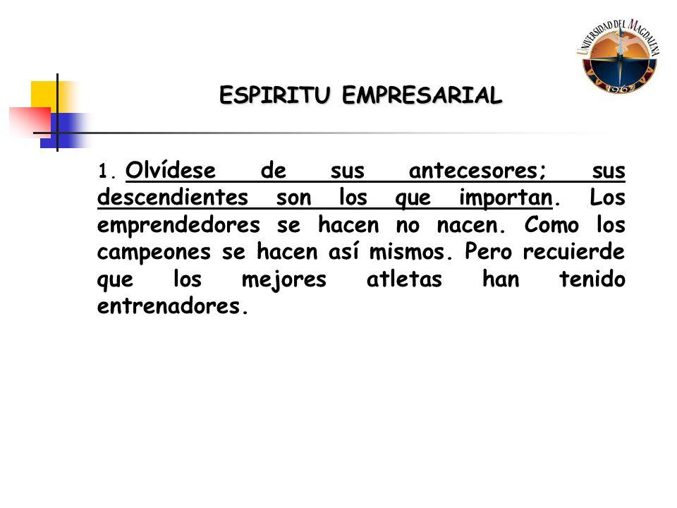 ESPIRITU EMPRESARIAL 2.Imite, no Idolatre.