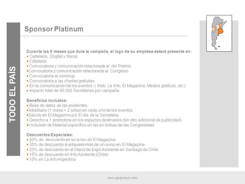 www.gruposyn.com Sponsor Platinum.