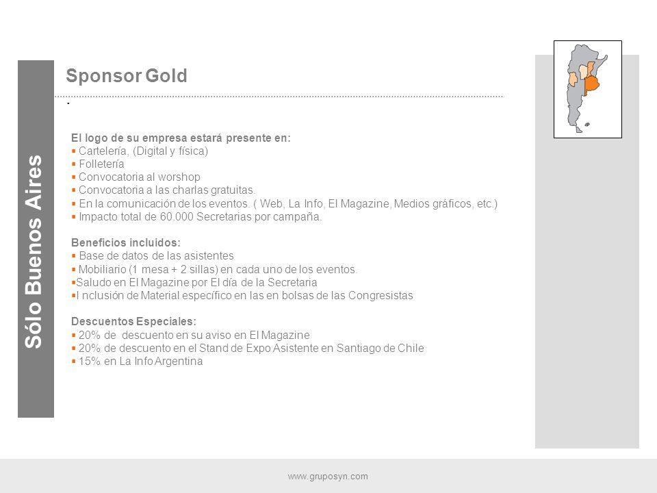 www.gruposyn.com Sponsor Gold.