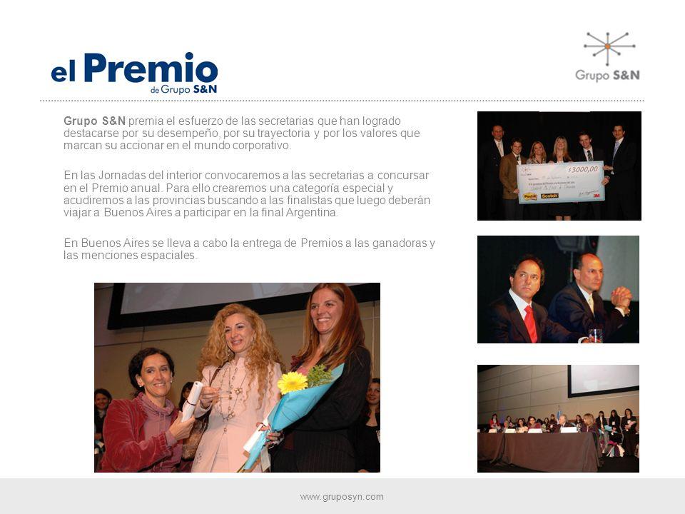 www.gruposyn.com Año tras año el Congreso estimula el desarrollo profesional de las Asistentes a través del perfeccionamiento de los mejores contenidos y las herramientas pedagógicas mas innovadoras.