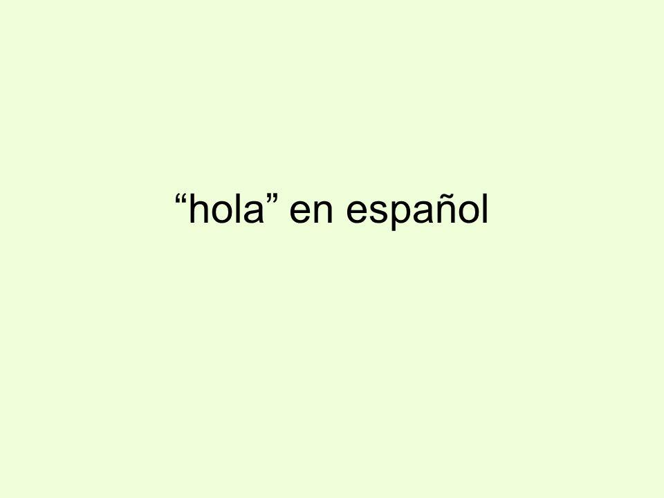 hola en español