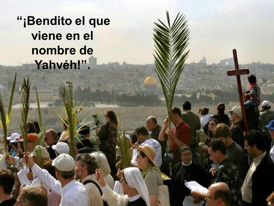 En Jerusalén había la costumbre de dar la bienvenida a los peregrinos que llegaban para celebrar la Pascua con las palabras del salmo 118: