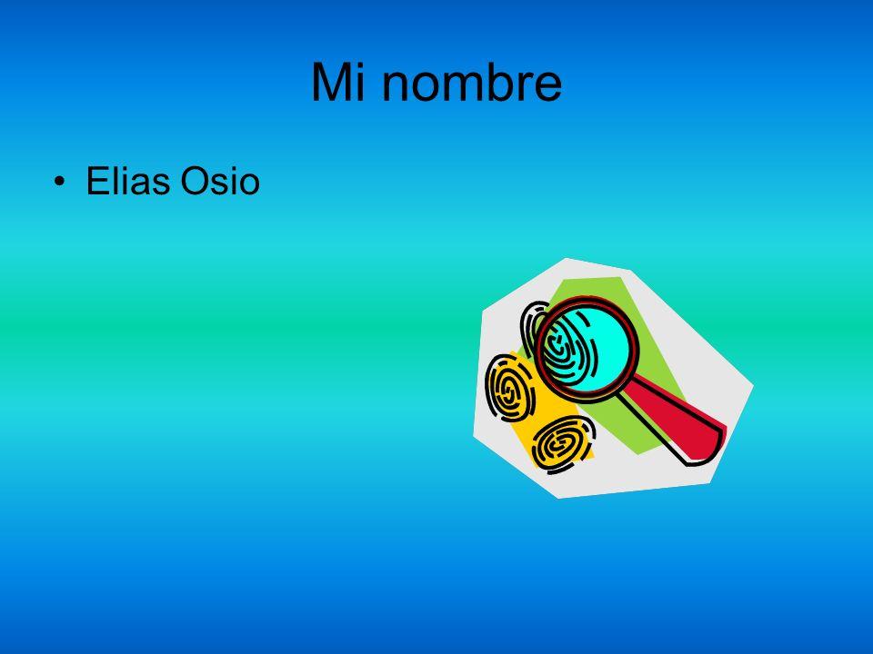 Mi nombre Elias Osio