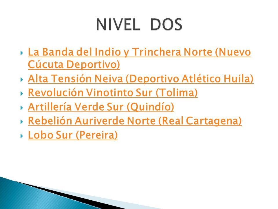 La Banda del Indio y Trinchera Norte (Nuevo Cúcuta Deportivo) La Banda del Indio y Trinchera Norte (Nuevo Cúcuta Deportivo) Alta Tensión Neiva (Deport