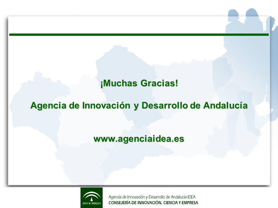 ¡Muchas Gracias! Agencia de Innovación y Desarrollo de Andalucía www.agenciaidea.es