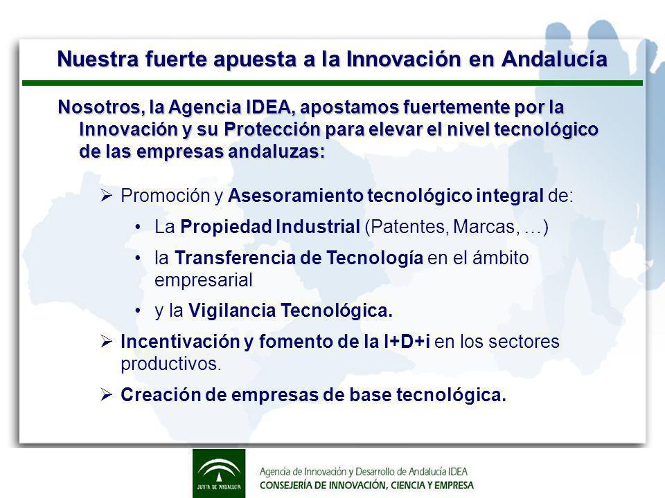 Servicios de Propiedad Industrial Creamos el Centro de Información Tecnológica y de la Propiedad Industrial de Andalucía (CITPIA) tras la firma de un acuerdo de colaboración con la Oficina Española de Patentes y Marcas (OEPM) en Septiembre 2002.