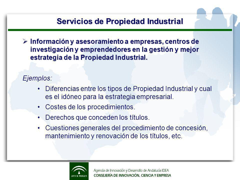 Servicios de Propiedad Industrial Informes de Patentes.
