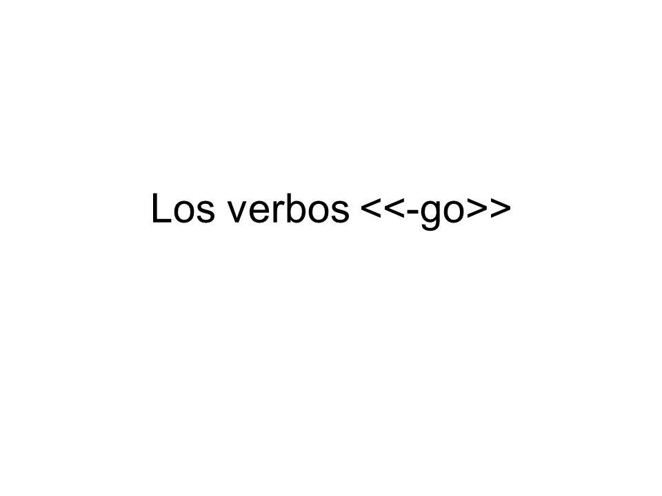 Los verbos >