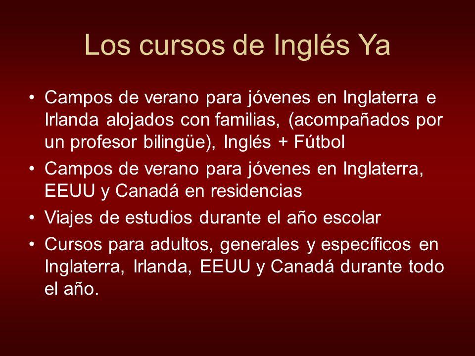 Los cursos de Inglés Ya Campos de verano para jóvenes en Inglaterra e Irlanda alojados con familias, (acompañados por un profesor bilingüe), Inglés +