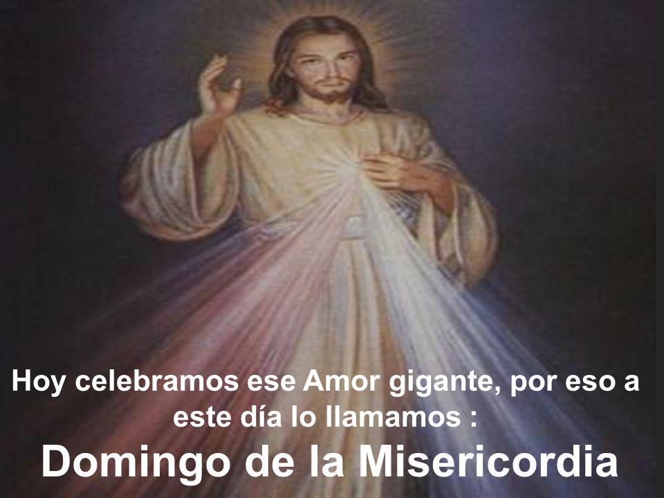 Hoy celebramos ese Amor gigante, por eso a este día lo llamamos : Domingo de la Misericordia