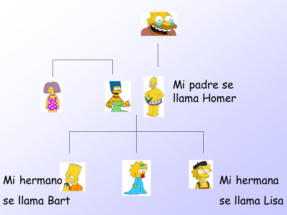 Mi padre se llama Homer Mi hermana se llama Lisa Mi hermano se llama Bart