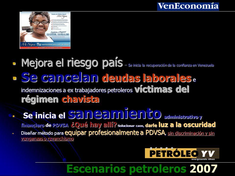 ¡Gana Rosales! Escenarios petroleros 2007