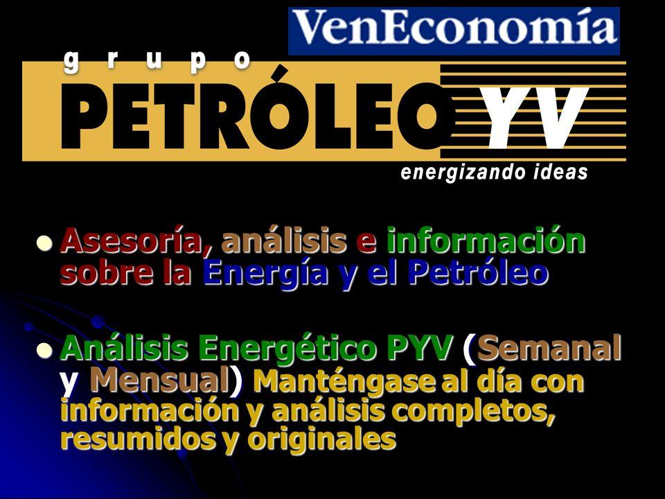 Fuentes principales utilizadas para esta presentación: PETROLEO YV AIE OPEP OMC The Economist Oil & Gas Journal CERA El Universal Comando de Campaña de M.