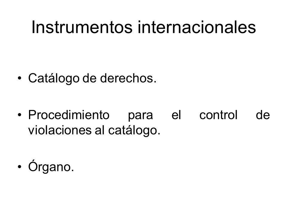 Instrumentos internacionales Catálogo de derechos.