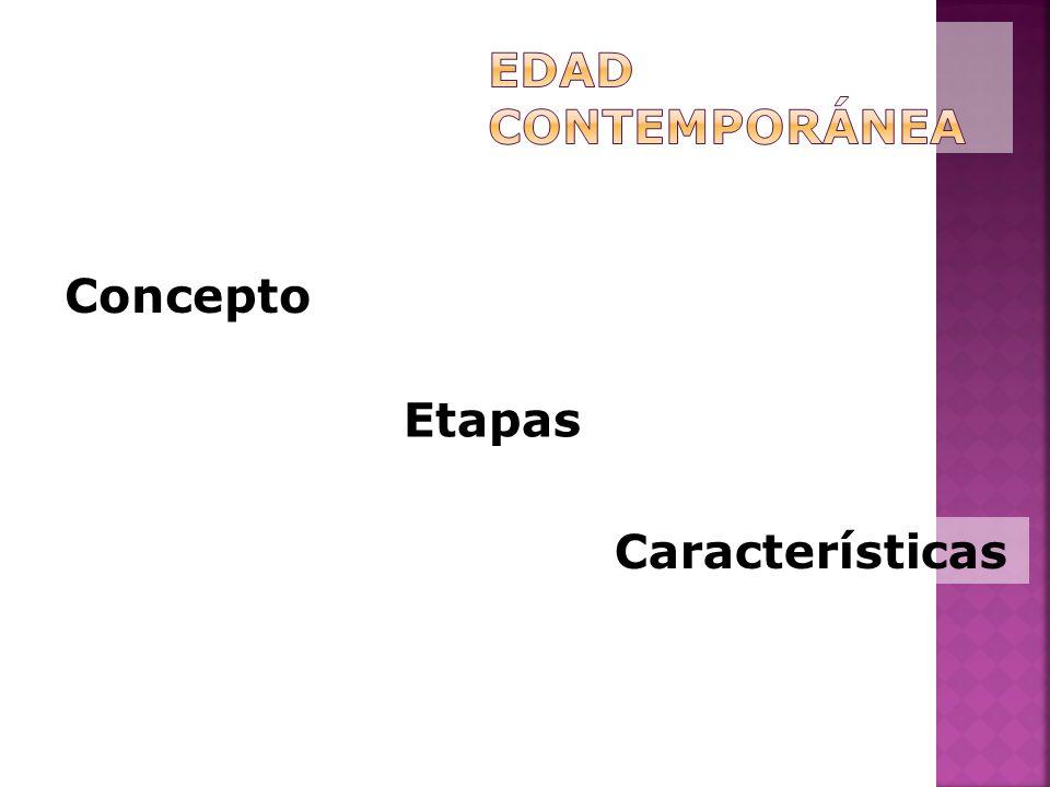 Etapas Concepto Características