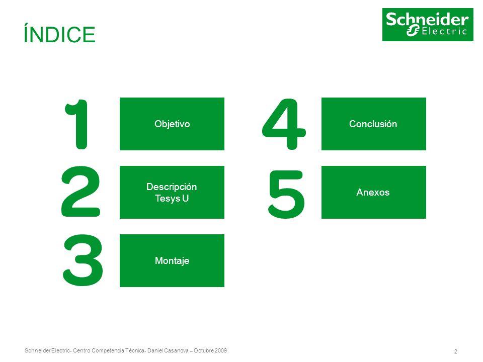 Schneider Electric 23 - Centro Competencia Técnica- Daniel Casanova – Octubre 2009 4.