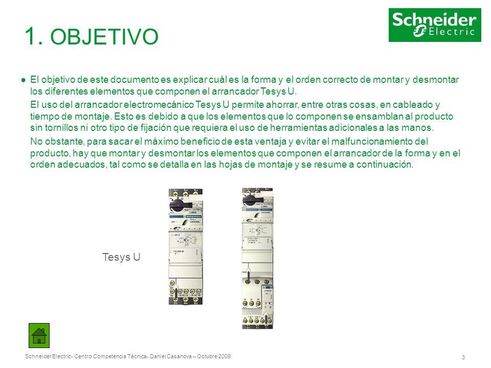 Schneider Electric 3 - Centro Competencia Técnica- Daniel Casanova – Octubre 2009 1. OBJETIVO El objetivo de este documento es explicar cuál es la for