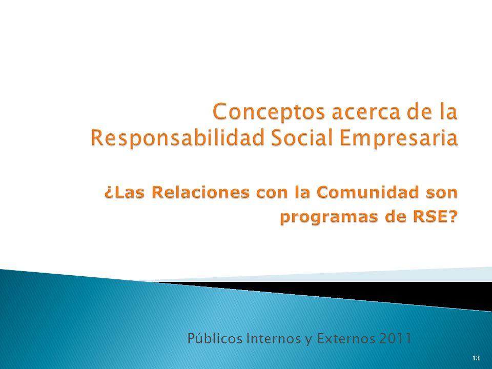 Públicos Internos y Externos 2011 13