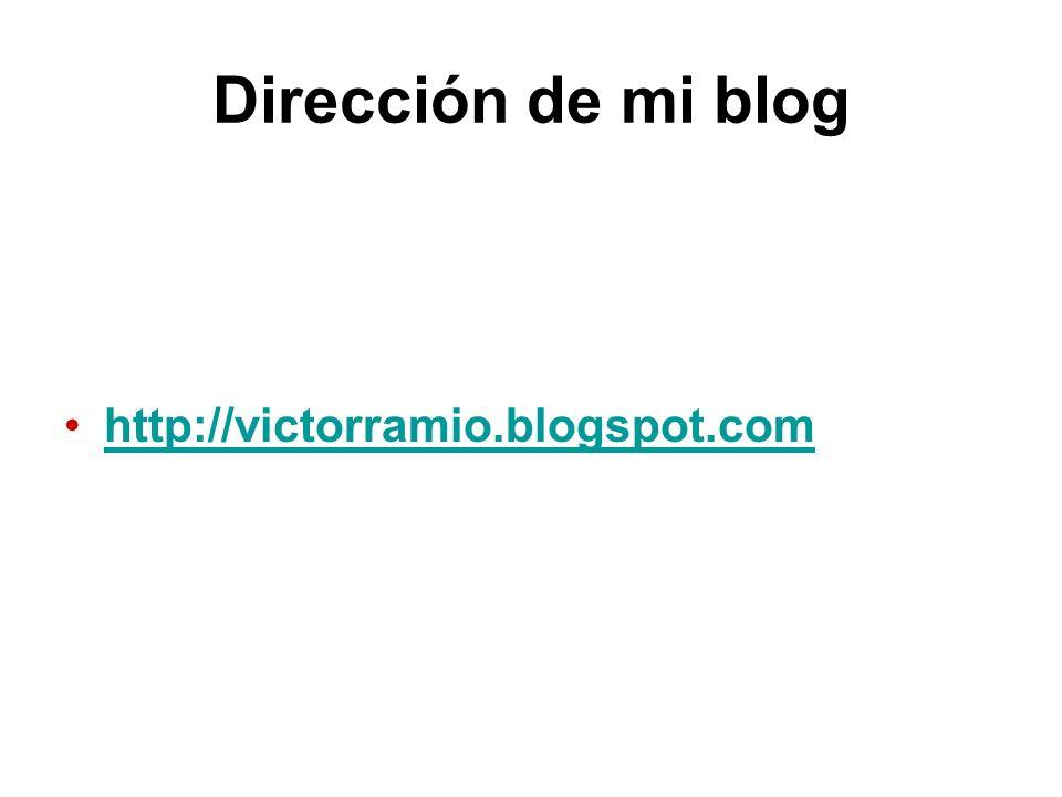 Dirección de mi blog http://victorramio.blogspot.com