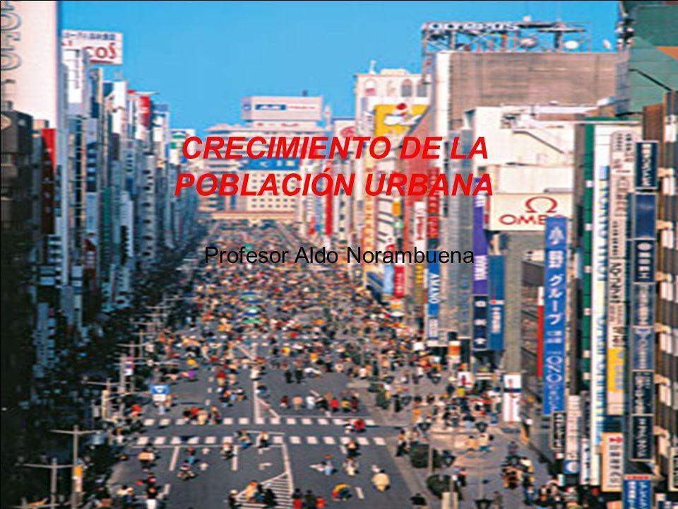 La Creciente importancia del fenómeno urbano en la sociedad Contemporánea En el siglo XX la población urbana mundial aumentó muy rápidamente (de 220 millones a 2.800 millones), en los próximos decenios habrá en el mundo en desarrollo un crecimiento urbano sin precedentes.
