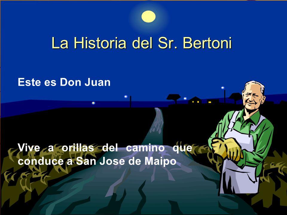 La Historia del Sr. Bertoni Este es Don Juan Vive a orillas del camino que conduce a San Jose de Maipo