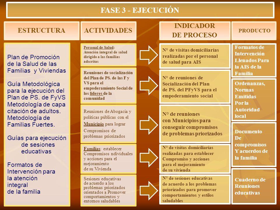 Plan de Promoción de la Salud de las Familias y Viviendas Guía Metodológica para la ejecución del Plan de PS. de FyVS Metodología de capa citación de