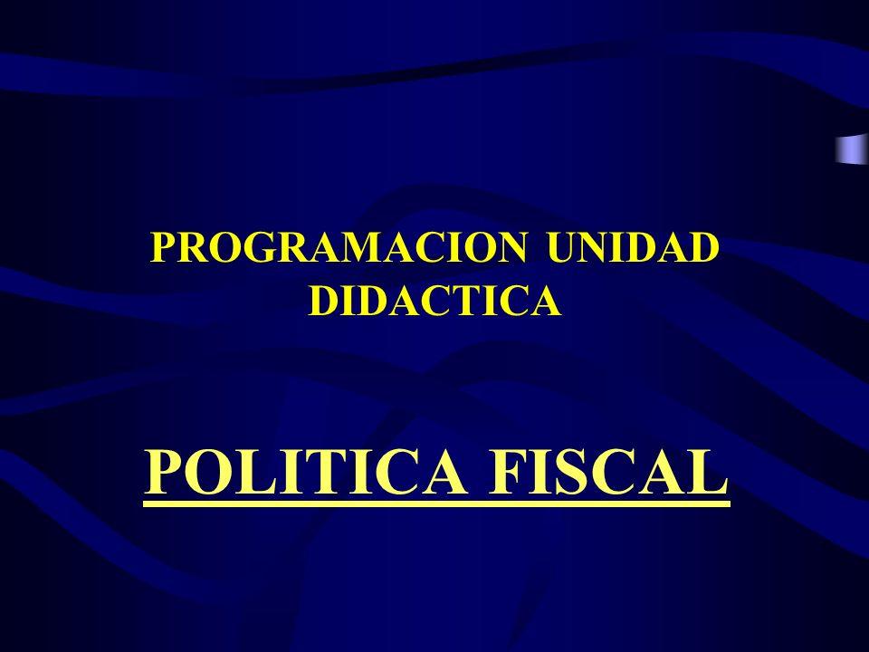 PROGRAMACION UNIDAD DIDACTICA POLITICA FISCAL