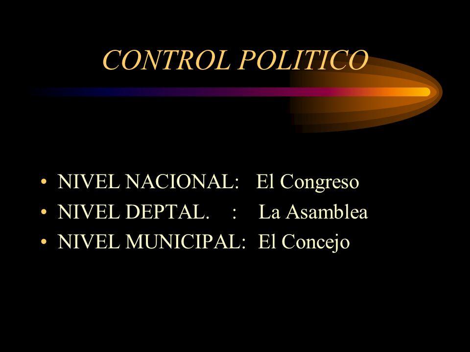 ORGANOS DE CONTROL POLITICO FISCAL ADMINISTRATIVO PENAL SOCIAL FINANCIERO