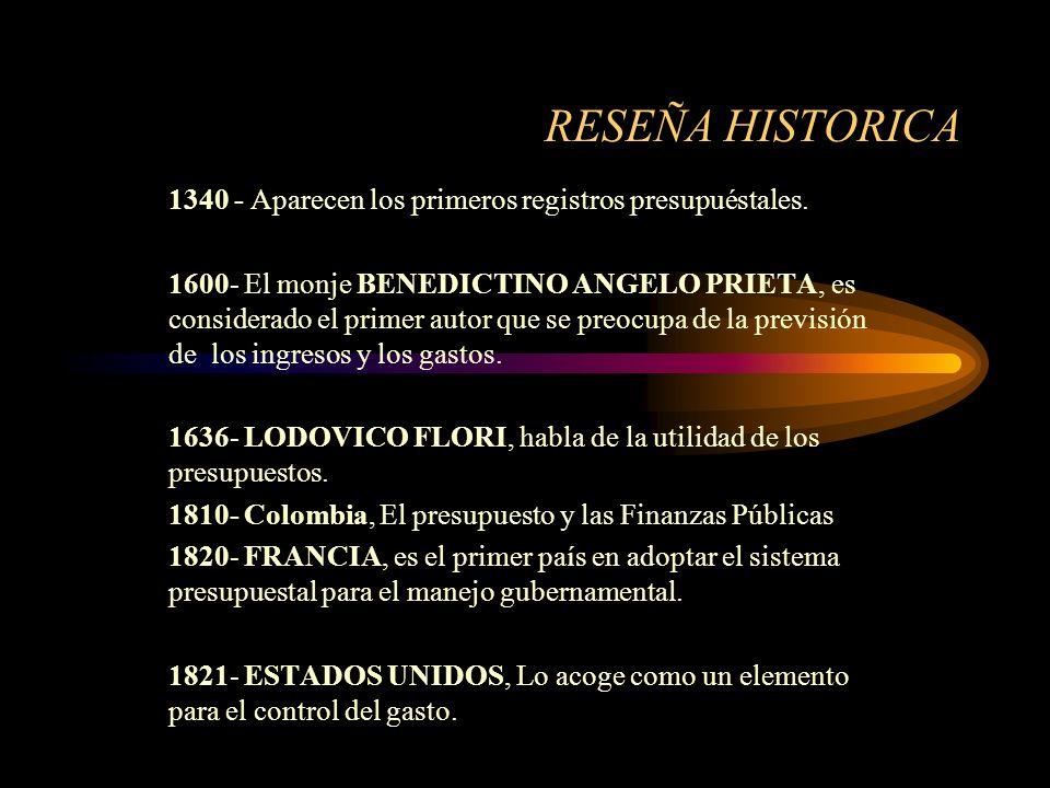 HISTORIA PRESUPUESTAL ORIGEN DE LA PALABRA El nombre se deriva de la palabra francés BOUGETTE; que para los Ingleses es BUDGET