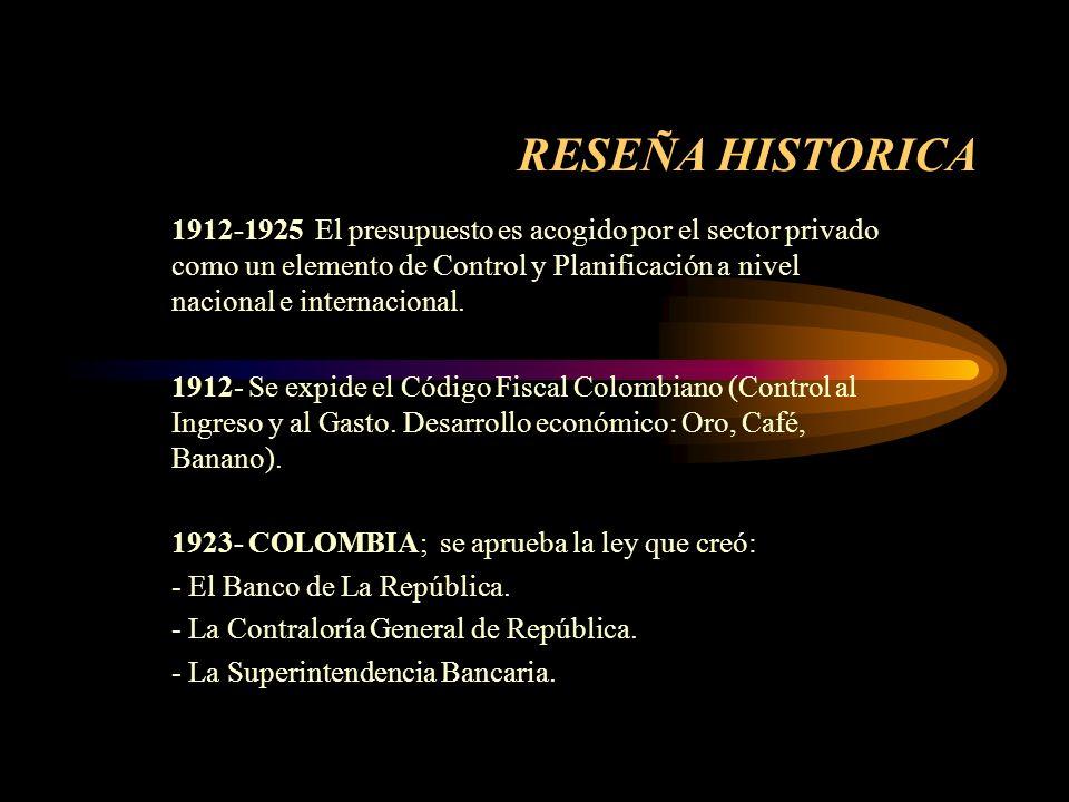 RESEÑA HISTORICA 1340 - Aparecen los primeros registros presupuéstales. 1600- El monje BENEDICTINO ANGELO PRIETA, es considerado el primer autor que s