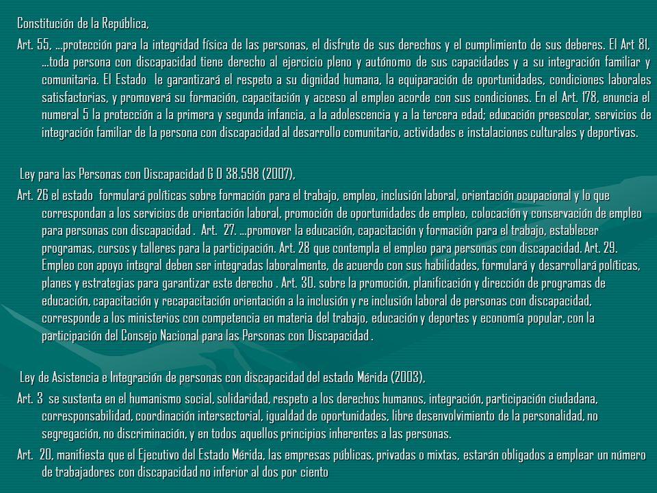 Constitución de la República, Art. 55, …protección para la integridad física de las personas, el disfrute de sus derechos y el cumplimiento de sus deb
