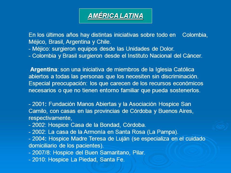 En los últimos años hay distintas iniciativas sobre todo en Colombia, Méjico, Brasil, Argentina y Chile. - Méjico: surgieron equipos desde las Unidade