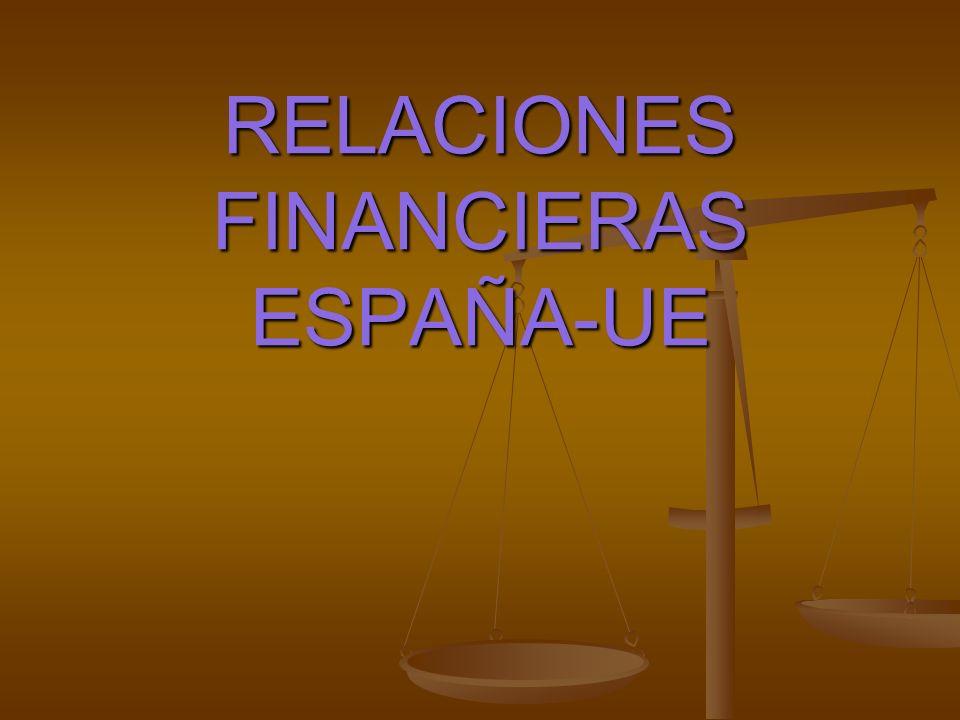 RELACIÓN FINANCIERA DE ESPAÑA CON LA UE TOTALMEDIA ANUAL PAGOS COMUNITARIOS A ESPAÑA 1675.29837.64 APORTACIÓN ESPAÑOLA A LA UE 1492.01746.01 SALDO FINANCIERO 183.2891.64