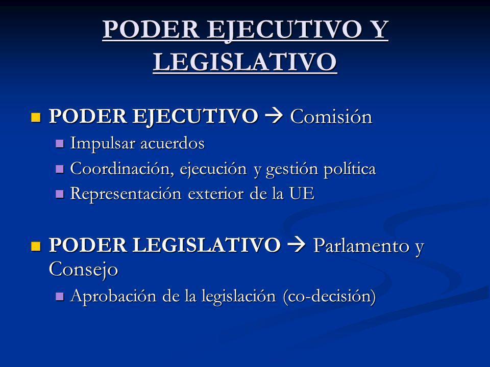 PODER EJECUTIVO Y LEGISLATIVO PODER EJECUTIVO Comisión PODER EJECUTIVO Comisión Impulsar acuerdos Impulsar acuerdos Coordinación, ejecución y gestión