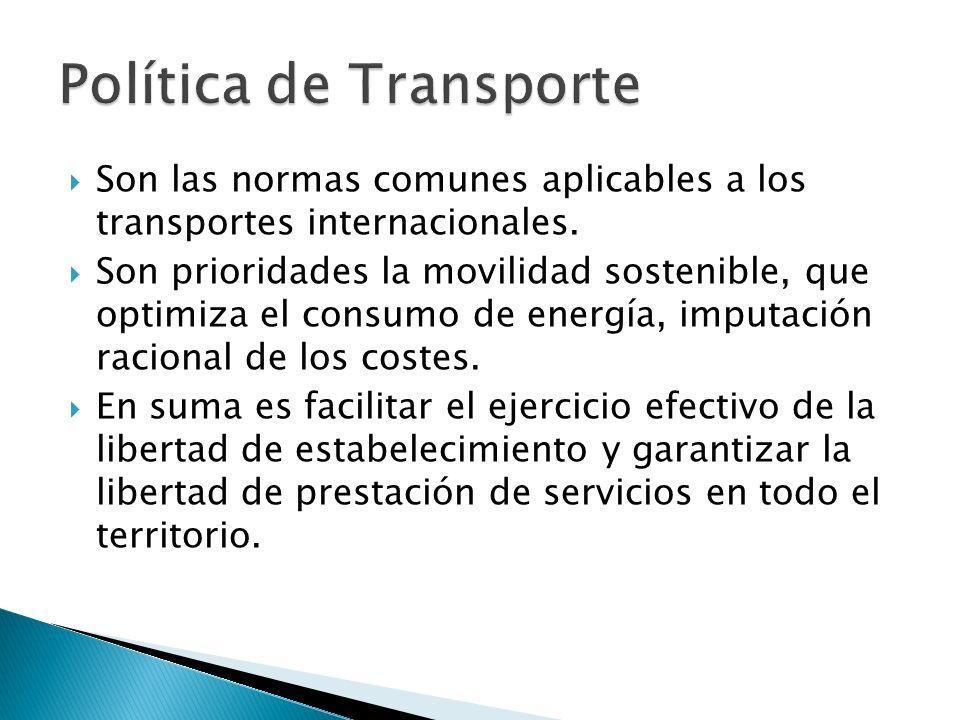 Son las normas comunes aplicables a los transportes internacionales.