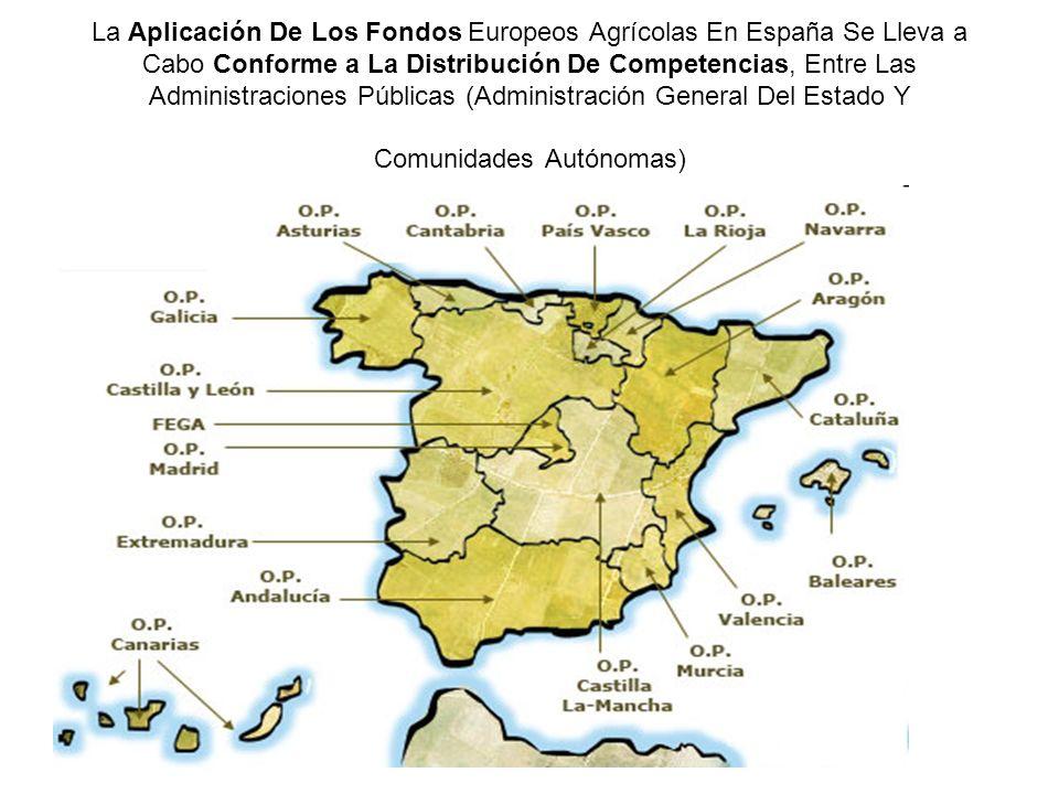 La Aplicación De Los Fondos Europeos Agrícolas En España Se Lleva a Cabo Conforme a La Distribución De Competencias, Entre Las Administraciones Públic