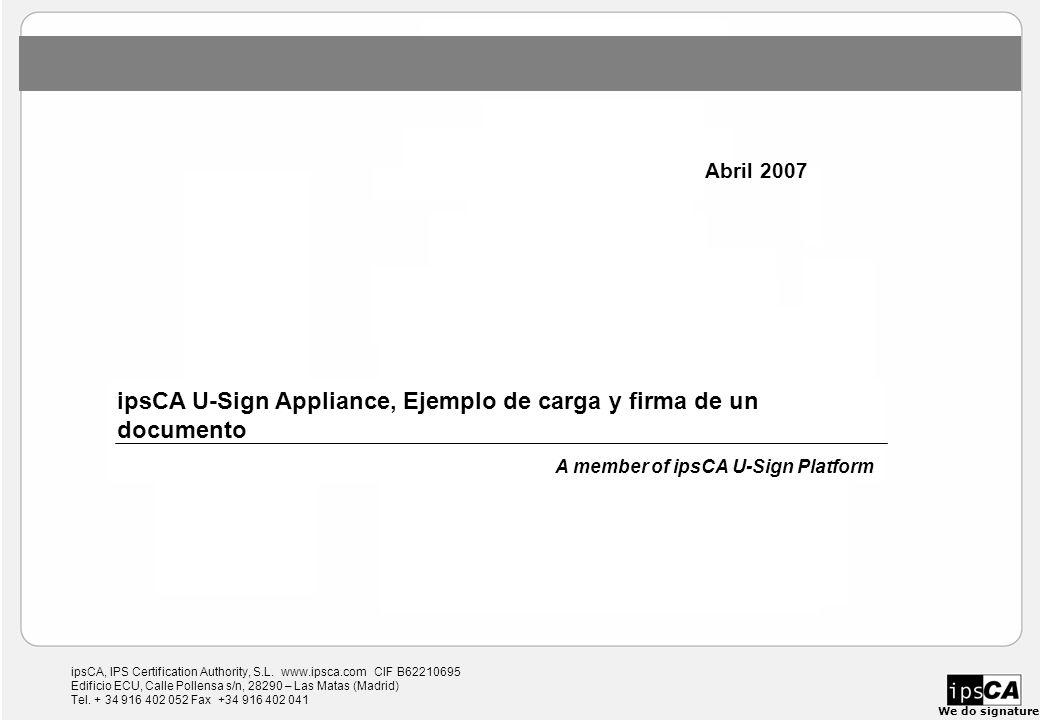 ipsCA, IPS Certification Authority, S.L.