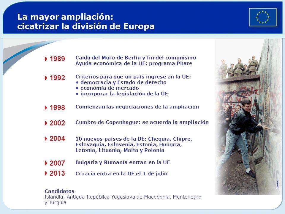 Funcionarios de la UE La Comisión emplea a cerca de 23 000 funcionarios de carrera y a 11 000 trabajadores temporales o con contrato Otras instituciones de la UE: cerca de 10 000 Funcionarios permanentes Selección por oposición Procedentes de todos los países de la UE Remuneración establecida en la normativa La administración de la UE cuesta a cada ciudadano 15 al año
