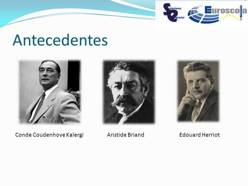 Antecedentes Conde Coudenhove KalergiAristide BriandEdouard Herriot