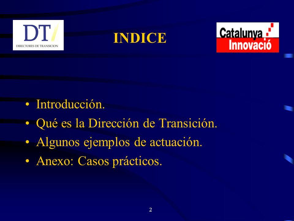 2 INDICE Introducción. Qué es la Dirección de Transición.