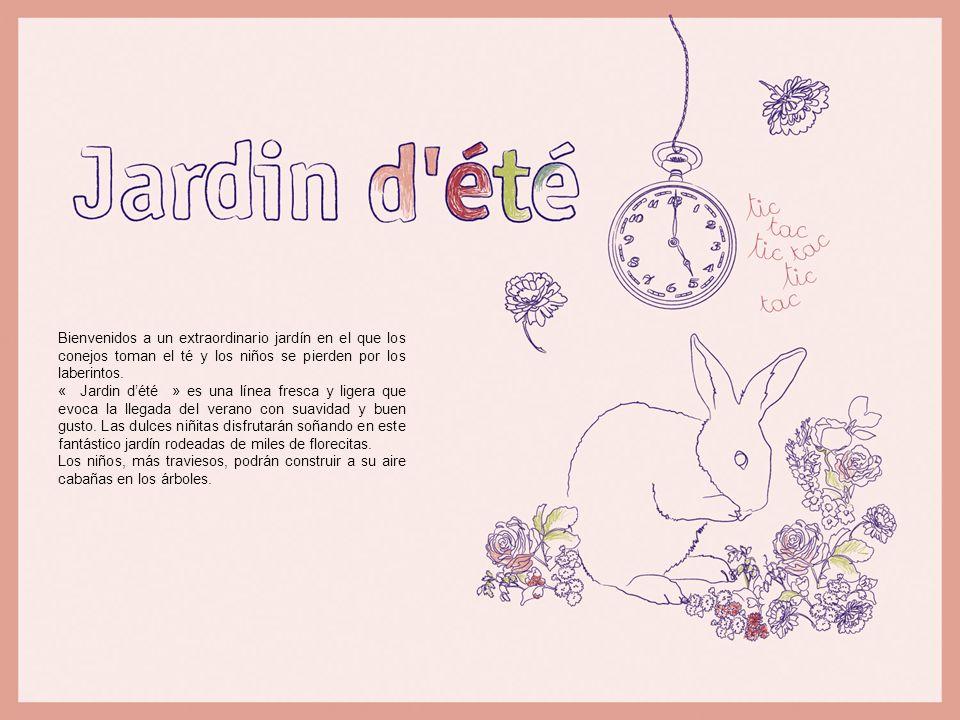 Bienvenidos a un extraordinario jardín en el que los conejos toman el té y los niños se pierden por los laberintos. « Jardin dété » es una línea fresc
