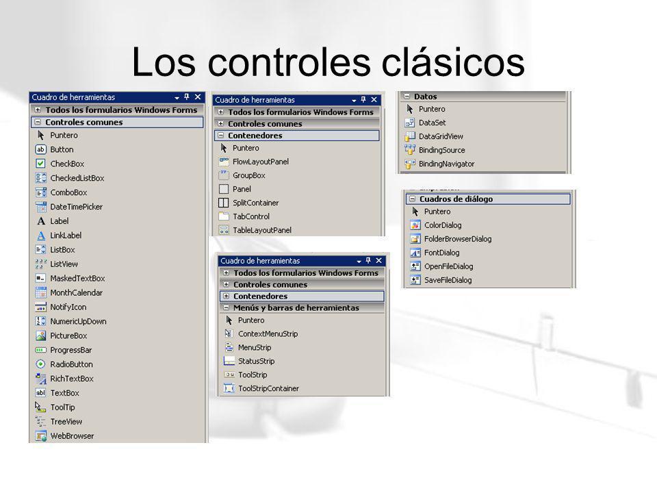 Los controles clásicos