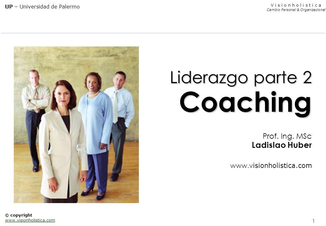 1 V i s i o n h o l i s t i c a Cambio Personal & Organizacional UP – Universidad de Palermo © copyright www.visionholistica.com Liderazgo parte 2 Coa
