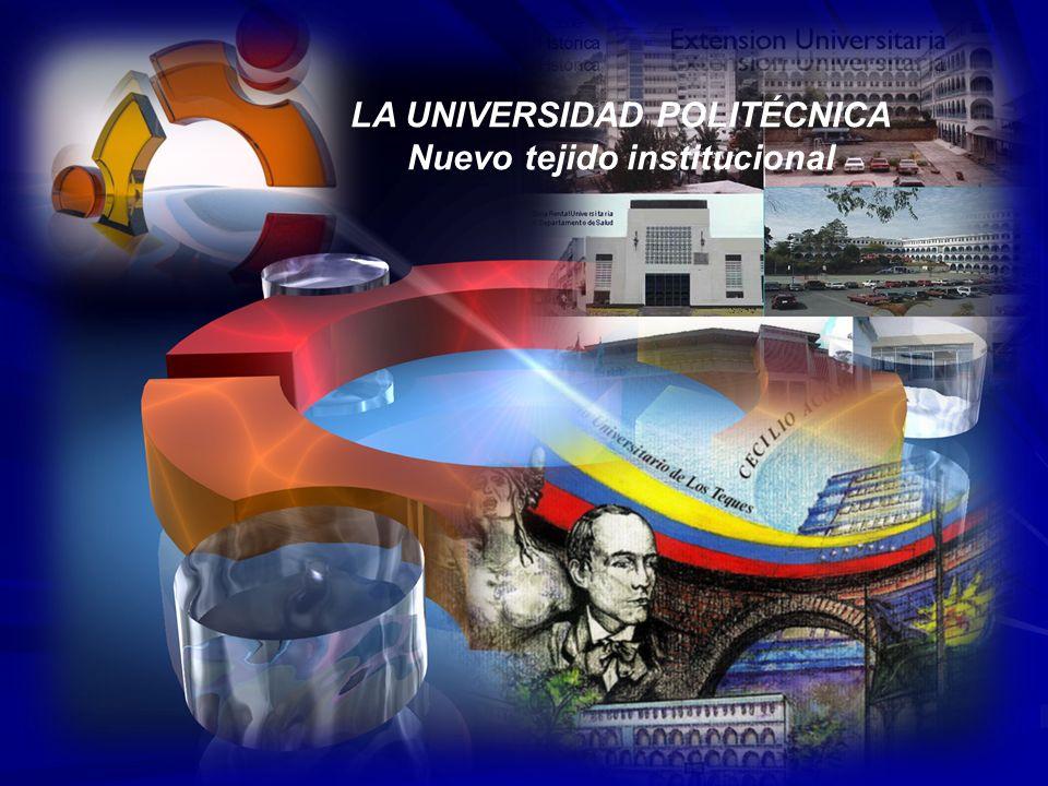LA UNIVERSIDAD POLITÉCNICA Misión Contribuir a la formación de un profesional de carácter humanista, en las diferentes áreas del conocimiento atendiendo la vocación, centrado en principios y valores universales, con sensibilidad social, ambiental-ecológica e identidad regional, nacional, latinoamericana y caribeña, con capacidad de integrarse a un mundo pluripolar y multicultural, prestando servicios educativos de calidad, que conlleven a la vinculación con la comunidad y a la creación intelectual con la apertura de espacios de reflexión e intercambio de saberes, en función del desarrollo endógeno para la transformación y el mejoramiento de la calidad de vida de los ciudadanos y ciudadanas.