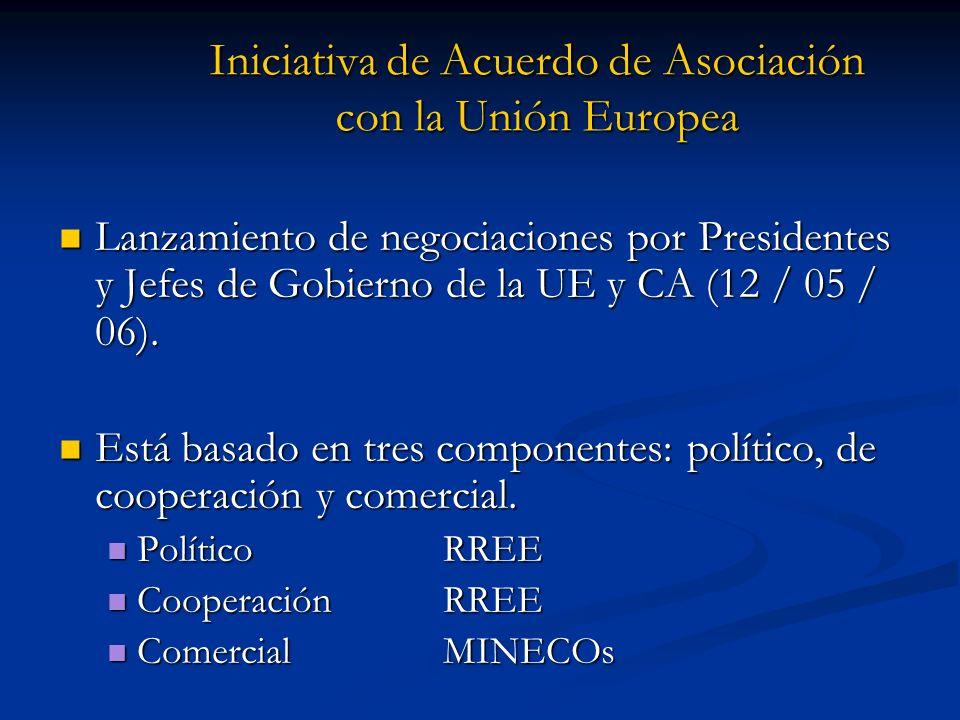 Iniciativa de Acuerdo de Asociación con la Unión Europea Lanzamiento de negociaciones por Presidentes y Jefes de Gobierno de la UE y CA (12 / 05 / 06)