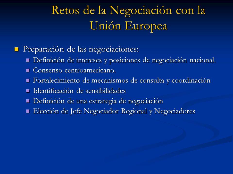 Retos de la Negociación con la Unión Europea Preparación de las negociaciones: Preparación de las negociaciones: Definición de intereses y posiciones