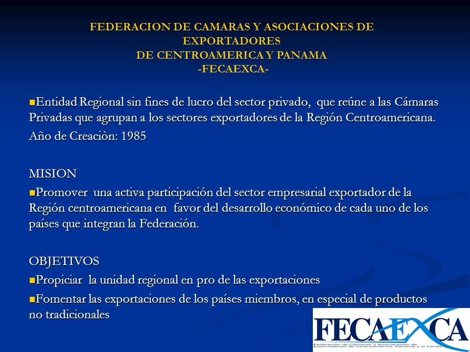 Entidad Regional sin fines de lucro del sector privado, que reúne a las Cámaras Privadas que agrupan a los sectores exportadores de la Región Centroam