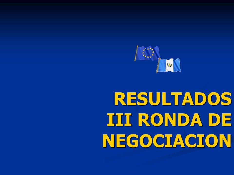 RESULTADOS III RONDA DE NEGOCIACION RESULTADOS III RONDA DE NEGOCIACION
