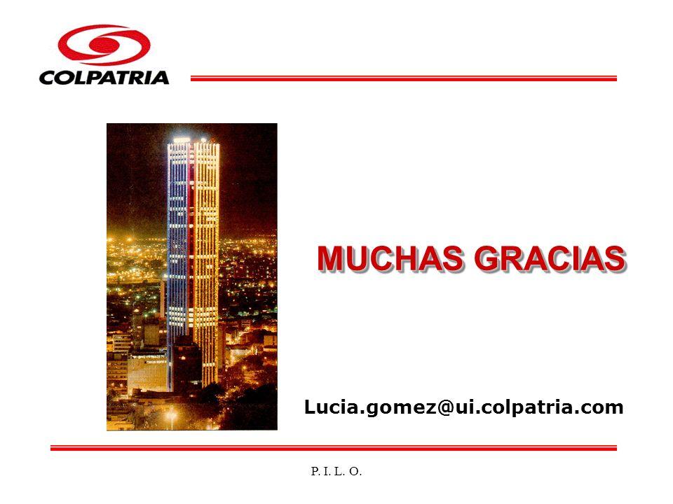 P. I. L. O. MUCHAS GRACIAS Lucia.gomez@ui.colpatria.com